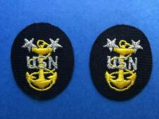 2 Lot Vintage US Navy Rank Master Chief Petty Officer MCPO Uniform Patches 215