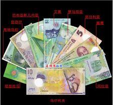 Polymer Banknotes Set 10pcs (UNC) 10个国家 10张精美塑料钞