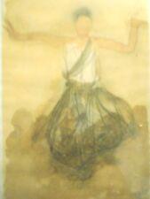 Augus Rodin Danseuse Cambodgienne de Face Gray Cambodian Dancer Art Print MR4429