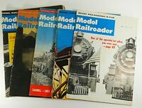 Model Railroader Magazines 1961 Lot of 5 Model Trains Vintage Collectible
