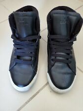 Supra Thunder Hightop black Action White Skateboard Sneakers Size US 8.5 Used