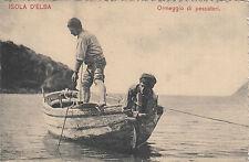 NP5679 - ISOLA D'ELBA LIVORNO - ORMEGGIO PESCATORI FINE 800 NON VIAGGIATA