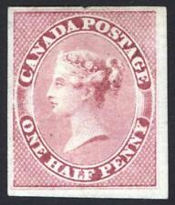 Canada 1857 1/2d Deep Rose, Wove Paper, SG 17 Scott 5b UN Cat £950($1263)