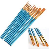 10Pcs Tip Paint Brush Set Best Gift Paiting Brush Pen Painting Supplies
