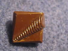 Vintage Button: Brown Glass Square Art Deco