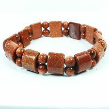 Goldstone Brown Gemstone Bracelet (EA2117M) reiki gem healing stone elasticized