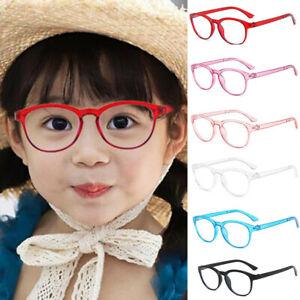 Children Kids Round Frame Anti Blue Light Computer Reading Eye Glasses Eyewear