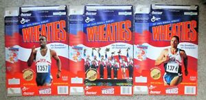 (3) WHEATIES 1996 USA OLYMPICS Cereal Boxes -Womens Gymnastics, Johnson, O'Brien