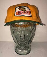 Vtg DEKALB Yellow/Green Snapback Hat Adjustable