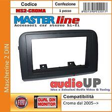 MASCHERINA AUTORADIO 2 DIN PER FIAT CROMA DAL 2005 IN POI. ADATTATORE DOPPIO DIN