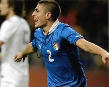 Italy Marco Verratti Autographed Signed 8x10 Photo COA A