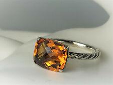 David Yurman Sterling Silver Citrine color classics Ring,  size 7