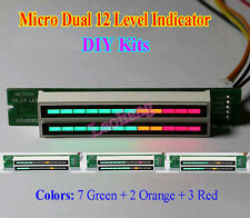 Dual 12 Stereo Level indicator DIY Kits LED VU Meter lamps Light Speed Adjust