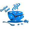 Cute Wall Clock Coffee Cup Shaped Decorative Kitchen Wall Clocks Living Room New