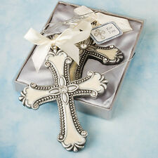 6 Cross Ornament Christening Baptismal Wedding Favors Communion Religious Favor