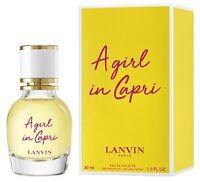 2019 LANVIN A Girl In Capri  eau de toilette edt 30 ml 1 oz new in box sealed