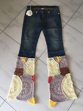 NoLIta Pocket jeans 14 häkel patchwork flores rar s 36/38 verano hippie Style