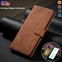 For Samsung Galaxy Note 10 Plus 5G Case Magnetic Leather Flip Wallet Stand Cover