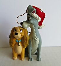 Disney Lady And The Tramp Christmas Tree Ornament Figurine RARE NEW