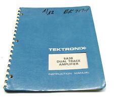 Tektronix 5A38 Instruction Manual f. 5000er Serie Dual Trace Amplifier Plugin
