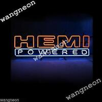New HEMI POWERED Logo Beer Bar Real Glass Neon Light Sign FREE FAST SHIPPING