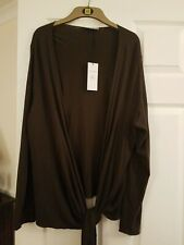M&S Brown Cardigan Material Size 22