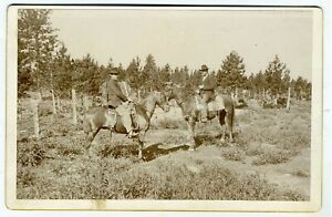 CABINET CARD – COWBOYS ON HORSEBACK