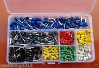 400PCS Wire Copper Crimp Connector Insulated Cord Pin End Terminal AWG 22 10 Kit