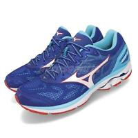 Mizuno Wave Rider 21 Blue White Red Men Running Shoes Sneakers J1GC1803-02