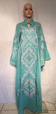 Muslim Evening Dresses Angled Sleeves Dubai Kaftan Evening Formal BOHO Abaya M/L