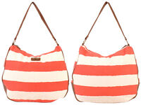 WOMEN'S KANGOL FASHION BEACH BAG CANVAS STRIPED SHOULDER BAG HANDBAG TOTE BEACH