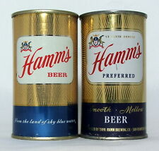 New ListingHamm's Beer 12 oz. Flat Top Beer Cans-Theo. Hamm Brewing, St. Paul, Minnesota