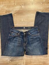 7 for All Mankind Slimmy Slim Fit Dark Blue Stretch Jeans Men's Size 32 X 29