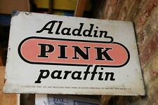 Antique Aladdin Pink Paraffin Double Sided Enamel Sign approx 46cm x 30cm