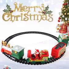 1X Weihnachtszug Weihnachten Kinder Geschenk Spielzeug Musik Licht Eisenbahn