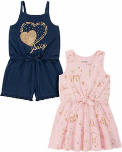 Juicy Couture Girls 2 Pack Romper & Dress Size 2T 4T 4 5 6 6X 7 8/10 12