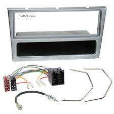 OPEL CORSA C 00-04 1-DIN radio de voiture Set d'installation cache chromé mat