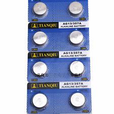 Protracted 10Pc Alkaline Batteries G13 LR44 SR44 L1154 357 A76 Pro Button Cells