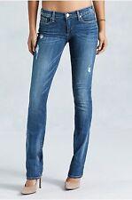 True Religion Cora Mid Rise Straight Leg Jean-  CKTM Slate Medium Wash Size 25