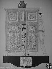 PUBLICITÉ 1927 AU BÛCHERON LE GRAND MAGASIN DE MEUBLES - R.VINCENT - ENFANT