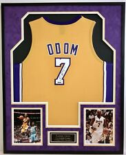 LAMAR ODOM #7, L.A. LAKERS, 2x NBA CHAMPION AUTOGRAPHED FRAMED JERSEY UDA COA
