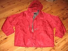 MENS XL RED NAUTICA INSULATED QUILTED LINING NYLON  JACKET COAT