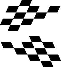 scooter car chequers decal stickers mod  trojan panel window LI TV SX GP PK PX
