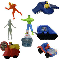 McDONALD's 1996 MARVEL HEROES 8 piece Happy Meal  fast food toy set