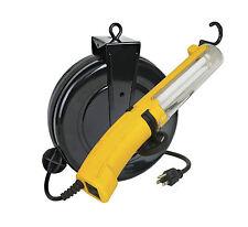 Professional Fluorescent Retractable Reel Garage Shop Work Light 13RF-30GR cUL