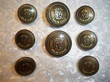 Murano Coat of Arms Solid Brass Blazer Button Set, 2 Button Jacket, 8 Buttons