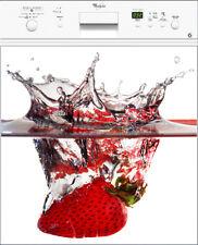 Sticker Lave vaisselle REPOSITIONNABLE déco Splatch Fraise 60x60cm Réf 041