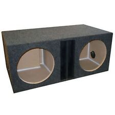 "Subwoofer Box 12"" Dual Vent Power Ported Separate Chambers Enclosure"