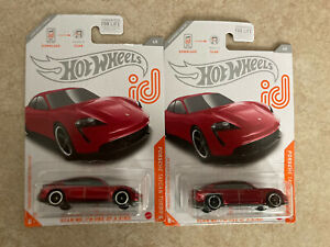 2021 Hot Wheels Porsche Taycan Turbo S *ID Chase Car* 6/8 Lot Of 2.