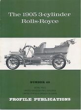 Rolls-Royce 1905 3 cylinder Profile Publication No. 49 12 page colour booklet